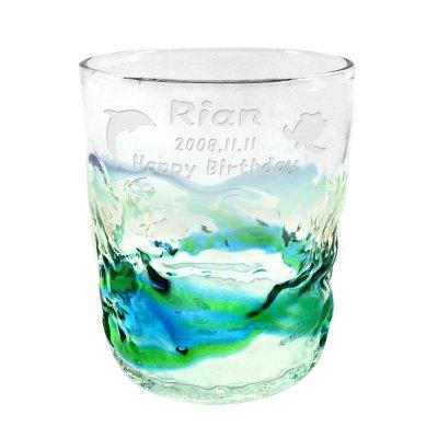 画像2: 名入れ ペアグラス 琉球グラス 記念日 メッセージ 彫刻無料 ロックグラス