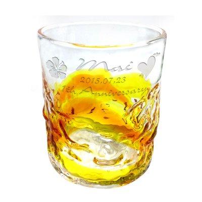 画像3: 名入れ ペアグラス 琉球グラス 記念日 メッセージ 彫刻無料 ロックグラス