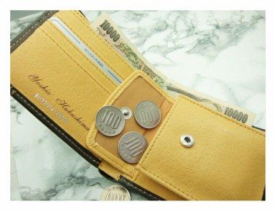 画像1: 名入れ 財布 牛革 二つ折り財布 名入れの出来る牛革二つ折り財布 ビジネスマン定番アイテムの必需品!