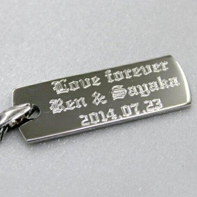 画像3: ペアネックレス 名入れ ペア カップル 2個セット ネックレス 刻印無料 記念日 メッセージ シンプル フレンチロープチェーン